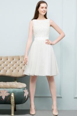 Elegante Weiße Hochzeitskleider Kurz Mit Spitze A Line Brautkleider Günstig Online_2