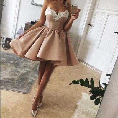 Champagne short cocktail dresses buy cheap a line prom dresses online_2