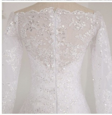 Wedding dresses with sleeves and lace | Wedding dress A line simple_2