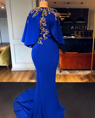 Luxury evening dresses royal blue | Gold Prom Dresses Long Cheap_1