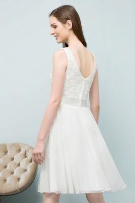 Elegante Weiße Hochzeitskleider Kurz Mit Spitze A Line Brautkleider Günstig Online_4