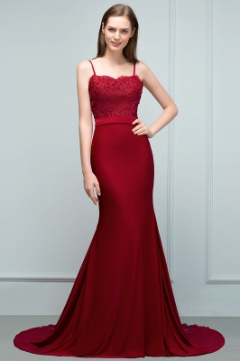 Elegant evening dresses long with lace wine red prom dresses for sale online_5