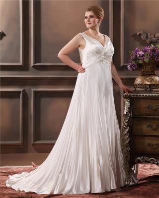 Weiß Brautkleider Große Größe Träger Etuikleider Übergröße Hochzeitskleider_3