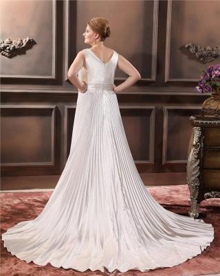Weiß Brautkleider Große Größe Träger Etuikleider Übergröße Hochzeitskleider_4