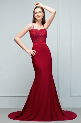 Elegant evening dresses long with lace wine red prom dresses for sale online_2