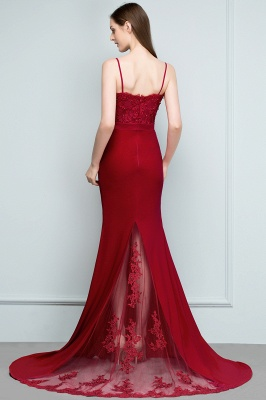 Elegant evening dresses long with lace wine red prom dresses for sale online_4