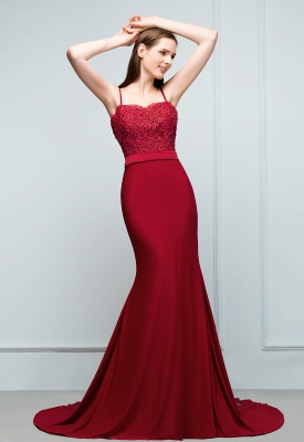 Elegant evening dresses long with lace wine red prom dresses for sale online_1