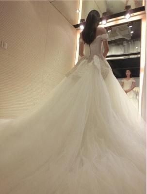 Prinzessin Brautkleider Elfenbein Spitze Tüll Brautmoden Hochzeitskleider_1
