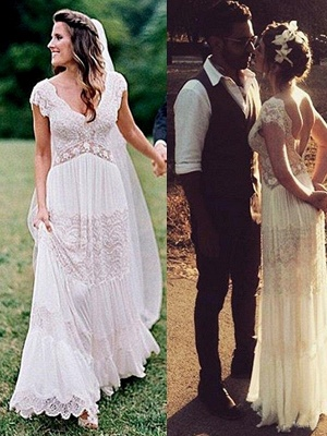 Modern Chiffon Wedding Dresses With Lace Sheath Dresses Wedding Dresses Cheap_1