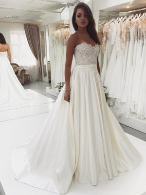 Designer Wedding Dresses A Line | Wedding dresses with lace_1