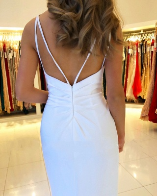 Beautiful White Evening Dresses Long | Chiffon dresses Simple evening dress_2