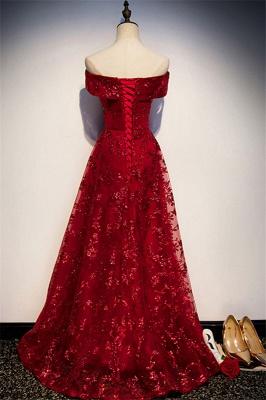Abendkleider Lang Glitzer | Rote Abiballkleider Günstig_2