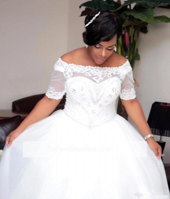 Brautkleider Große Grüße Mit Ärmel Spitze Hochzeitskleider ÜberGröße Online_4