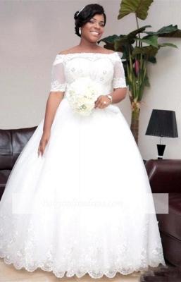 Brautkleider Große Grüße Mit Ärmel Spitze Hochzeitskleider ÜberGröße Online_5