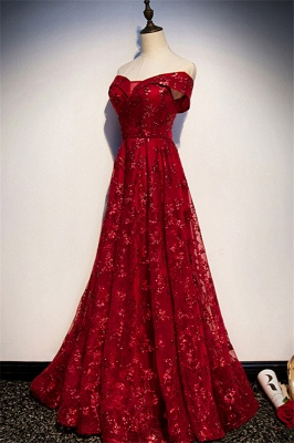 Evening dresses long glitter | Red prom dresses cheap_3