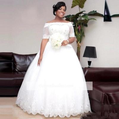 Brautkleider Große Grüße Mit Ärmel Spitze Hochzeitskleider ÜberGröße Online_2
