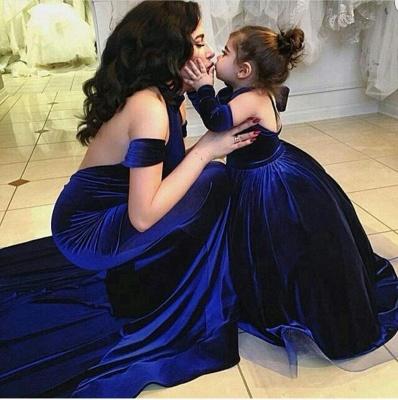 Elegante Lange Abschlussballkleider Abendkleider Royal Blue Meerjungfrau Abendmoden_2