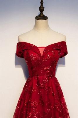 Abendkleider Lang Glitzer | Rote Abiballkleider Günstig_4