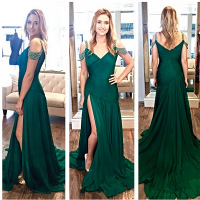 Turkish Evening Dresses Online Shop Beaded Chiffon Long Evening Wear Party Dresses_2