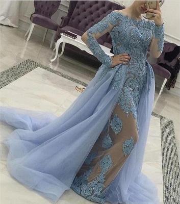 designer blaue abendkleider mit Ärmel günstige lange abendmoden spitze kleiderabendkleider