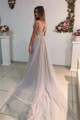 Elegant evening dresses long straps tulle prom dresses evening wear_2