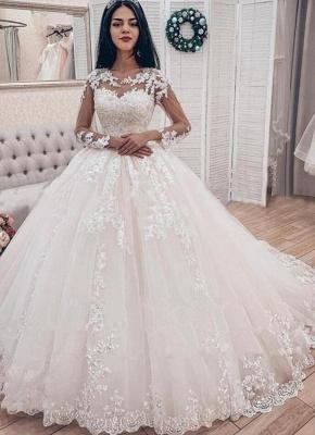 Designer Hochzeitskleider Mit Ärmel | Spitze Brautkleider A Linie_1