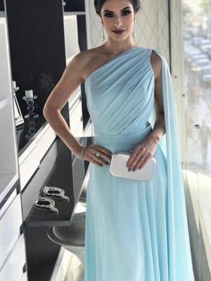 Heller Blau Lang Abendkleider Chiffon Bondenlang Abendmoden Günstig Online_2