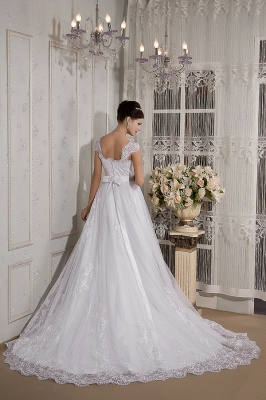 Weiß Brautkleider Für Schwangere Spitze Träger Brautmode Schwanger Günstig_2