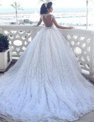 Luxury princess wedding dresses lace beaded wedding gowns cheap online_2