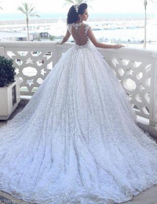 Luxus Prinzessin Brautkleider Spitze Perlen Hochzeitskleider Günstig Online_2