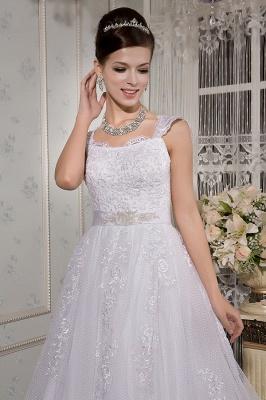 Weiß Brautkleider Für Schwangere Spitze Träger Brautmode Schwanger Günstig_3