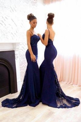 Blau Brautjungfernkleider Lang Günstig Meerjungfrau Kleider Für Brautjungfern Hochzeit_2