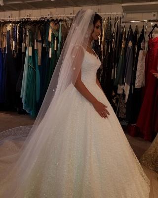 Fancy wedding dresses princess | Buy lace wedding dresses cheap_4