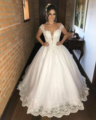 Fashion wedding dresses princess | Wedding dresses with lace_1