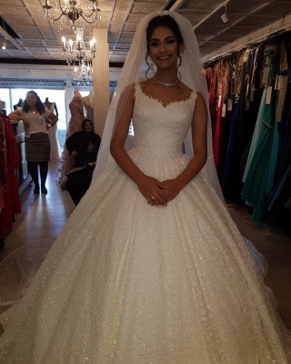 Fancy wedding dresses princess | Buy lace wedding dresses cheap_1