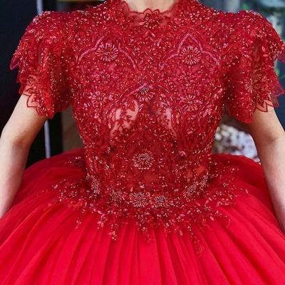 Luxus Abendkleider Rot Prinzessin | Abendmoden Online Kaufen_3