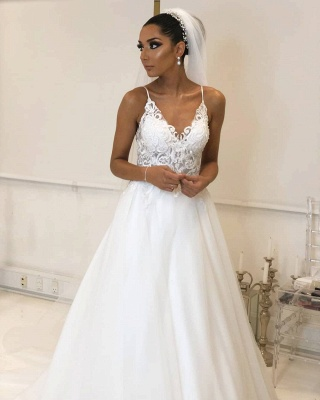 Designer wedding dresses white | Wedding dresses with lace online_3