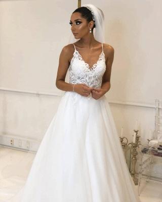 Designer Hochzeitskleider Weiß | Brautkleider Mit Spitze Online_3