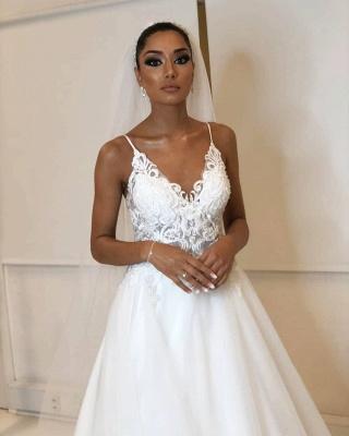Designer Hochzeitskleider Weiß | Brautkleider Mit Spitze Online_4