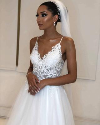 Designer Hochzeitskleider Weiß | Brautkleider Mit Spitze Online_5