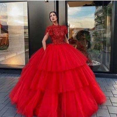 Luxus Abendkleider Rot Prinzessin | Abendmoden Online Kaufen_2