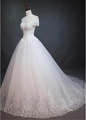 New Wedding Dresses White With Lace A Line Wedding Dress Cheap Online_4