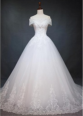 New Wedding Dresses White With Lace A Line Wedding Dress Cheap Online_1