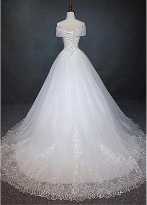 New Wedding Dresses White With Lace A Line Wedding Dress Cheap Online_2