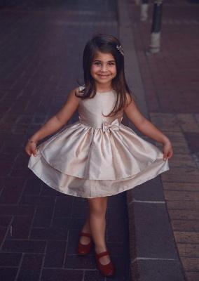 Süß Blumenmädchenkleider Kurz | Kinder Hochzeitskleider Günstig Online_1