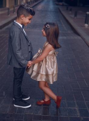 Süß Blumenmädchenkleider Kurz | Kinder Hochzeitskleider Günstig Online_3