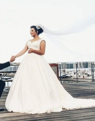 Elegante Hochzeitskleider für Schwangere | Brautkleider Große Größen_1