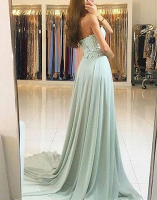 Elegant green evening dress long cheap with lace sheath dresses prom dresses online_2