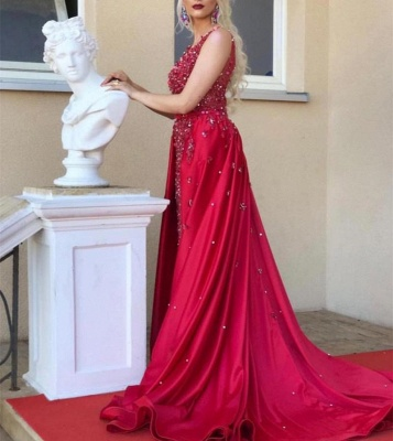 Red Evening Dress Long Cheap | Red dresses with lace_4