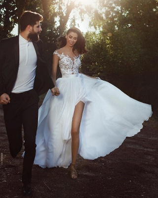 Cheap Summer Beach Boho Wedding Dresses With Lace_6